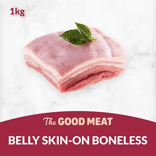 The Good Meat Belly Skin-on Boneless 1kg