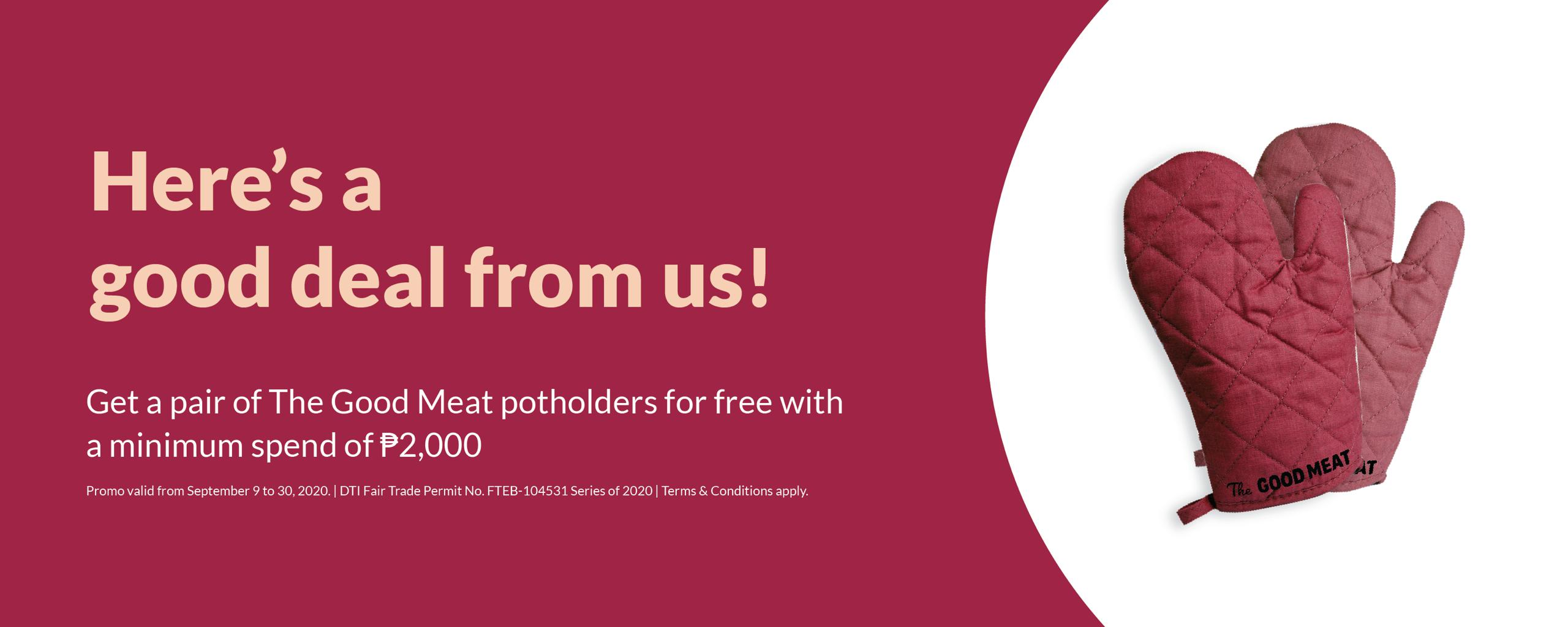 The Good Meat Free Potholder Promo