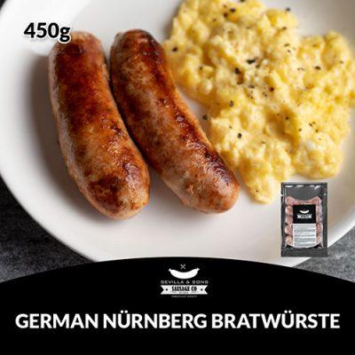 Sevilla & Sons German Nürnberg Bratwürste (450g)