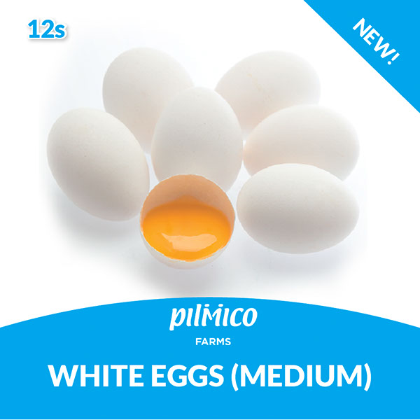 Pilmico Farms White Eggs Medium 12s