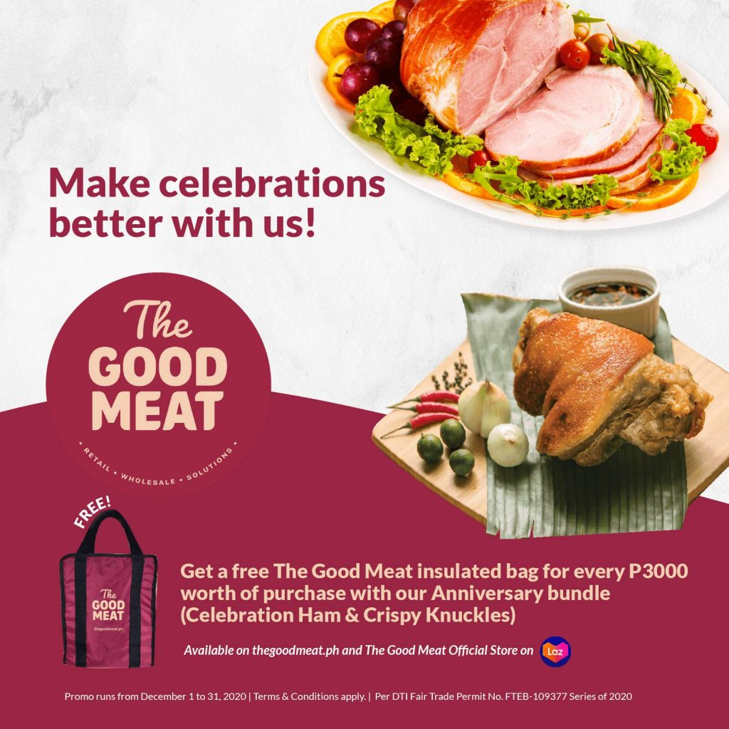 Get a free The Good Meat Insulated bag for every Php3000